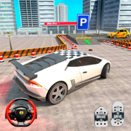 现代汽车驾驶停车处3d图标