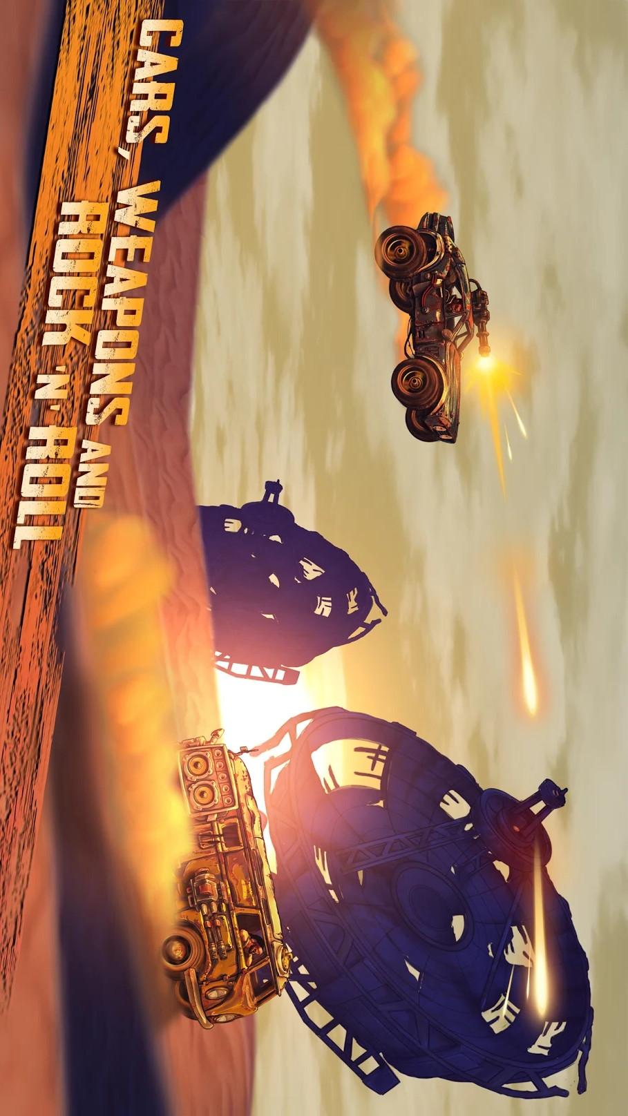 公路勇士:战斗赛车游戏截图