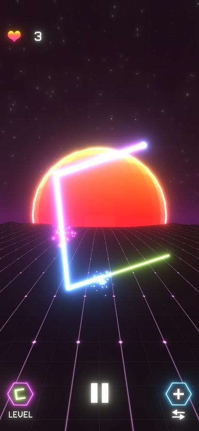 霓虹追逐者游戏截图