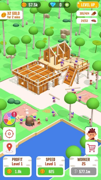 闲置丛林:生存建筑大亨游戏截图